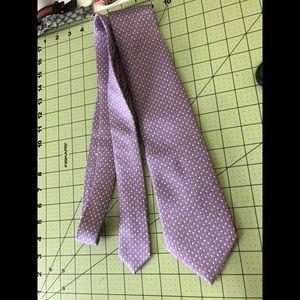 Church's designer silk purple tie